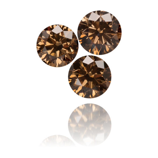 Natural Brown Diamond Round 1.71 ct Set