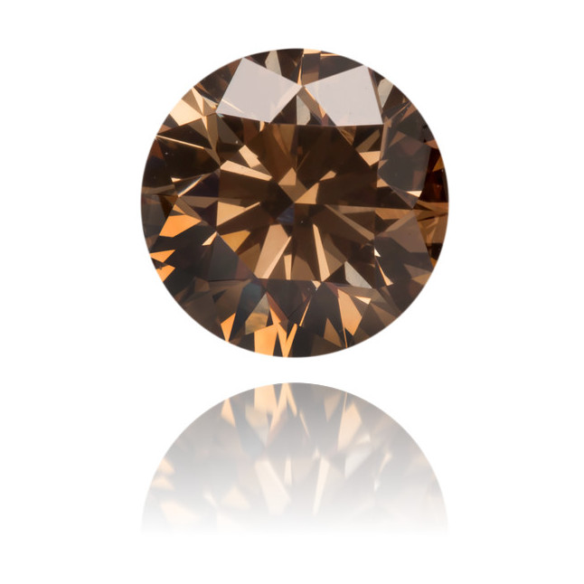 Natural Brown Diamond Round 0.57 ct Polished