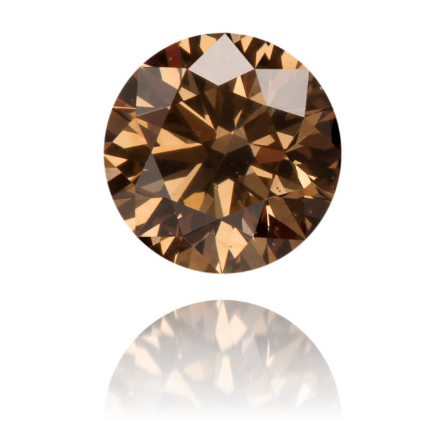 Natural Brown Diamond Round 0.52 ct Polished