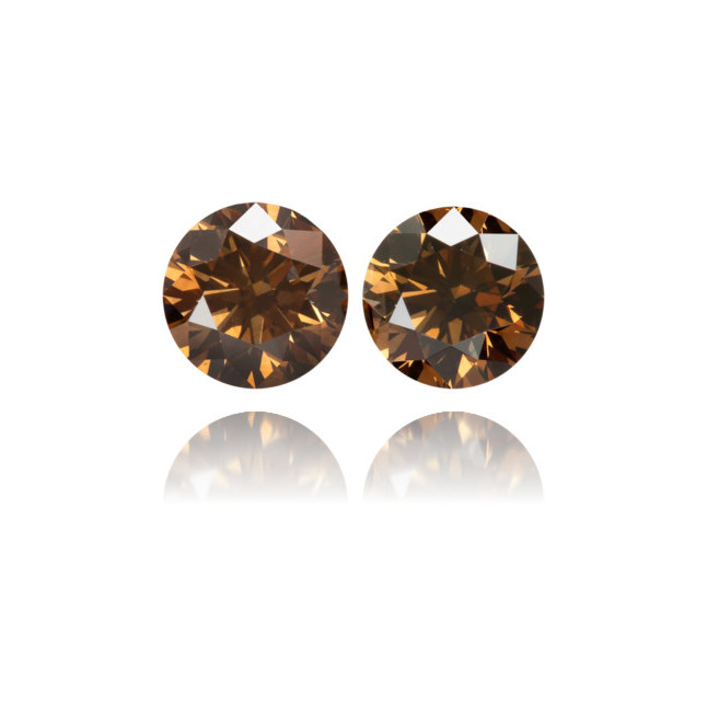 Natural Brown Diamond Round 1.14 ct Set