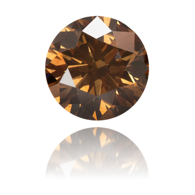 Natural Brown Diamond Round 0.55 ct Polished