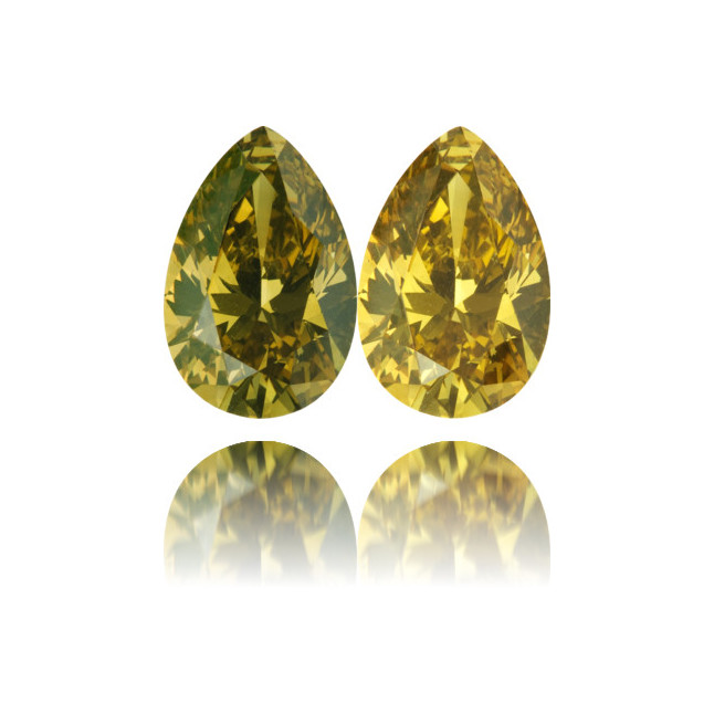 Natural Chameleon Diamond Pear Shape 2.15 ct Polished