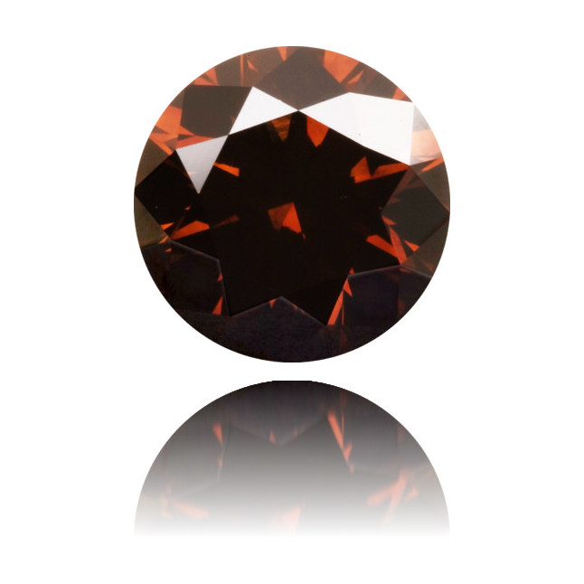 Natural Brown Diamond Round 1.33 ct Polished