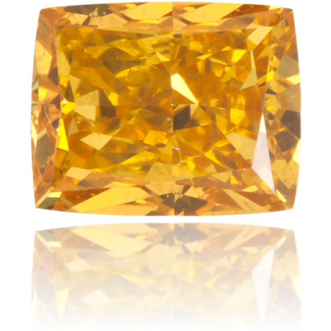 Natural Yellow Diamond Cushion 0.47 ct Polished