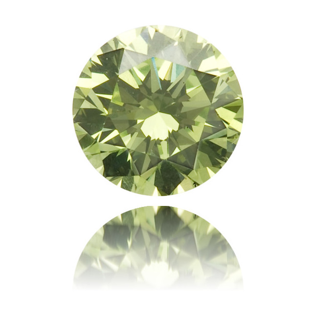 Natural Green Diamond Round 0.24 ct Polished