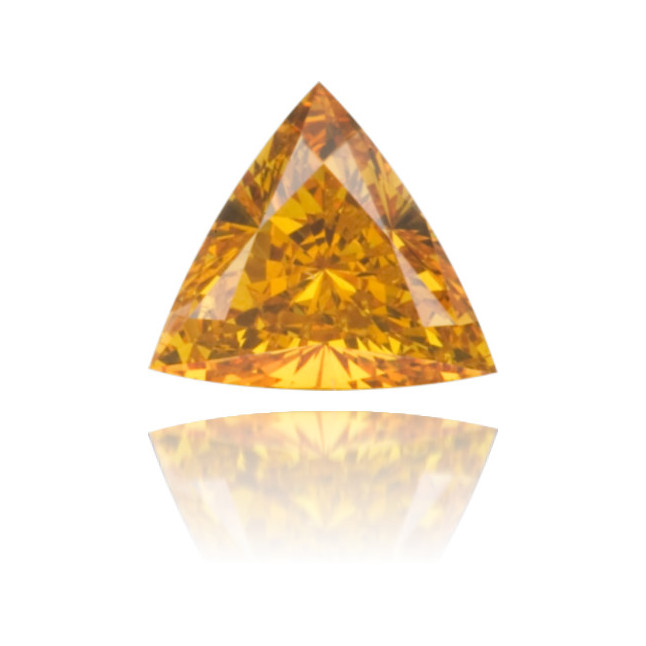 Natural Orange Diamond Triangle 0.25 ct Polished
