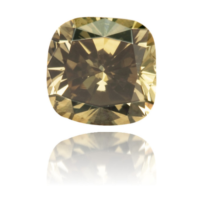 Natural Green Diamond Square 0.49 ct Polished