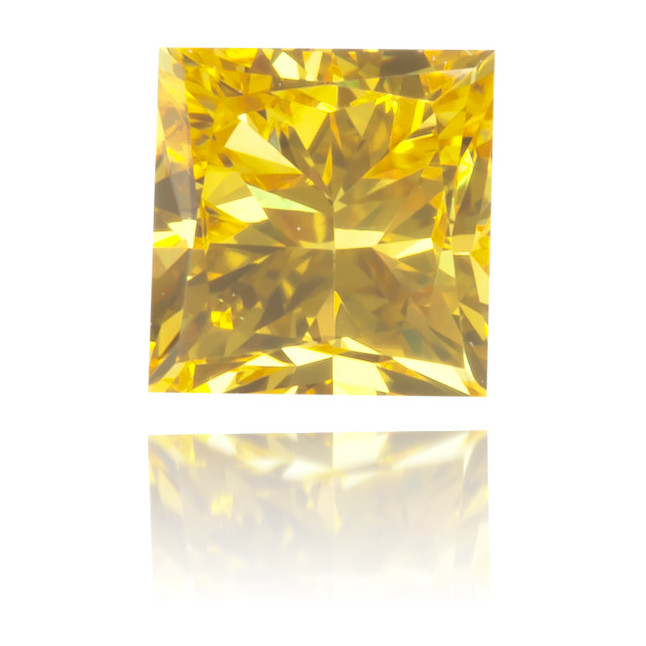 Natural Yellow Diamond Square 0.34 ct Polished