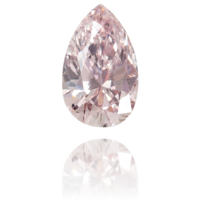 Natural Pink Diamond Pear Shape 0.11 ct Polished