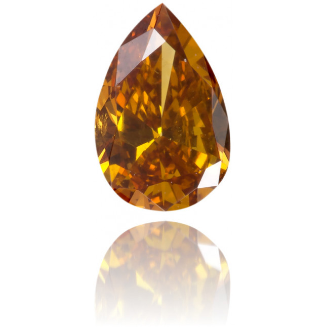 Natural Orange Diamond Pear Shape 0.28 ct Polished