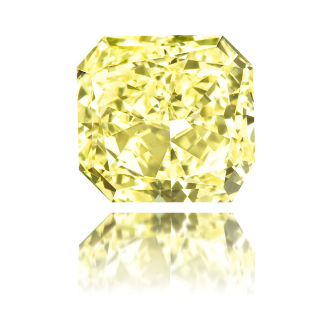Natural Yellow Diamond Square 0.51 ct Polished