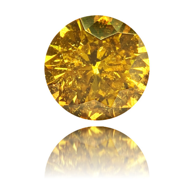 Natural Orange Diamond Round 0.34 ct Polished