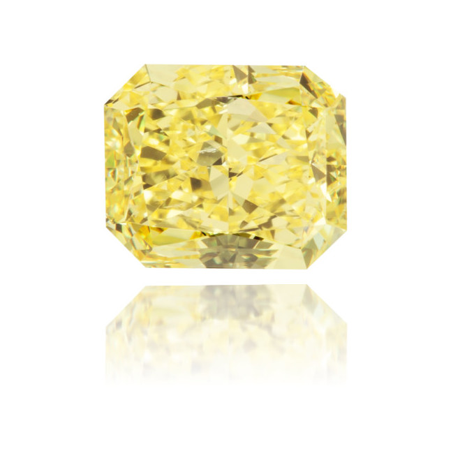 Natural Yellow Diamond Rectangle 0.72 ct Polished