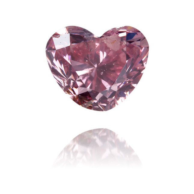 Natural Pink Diamond Heart Shape 0.47 ct Polished