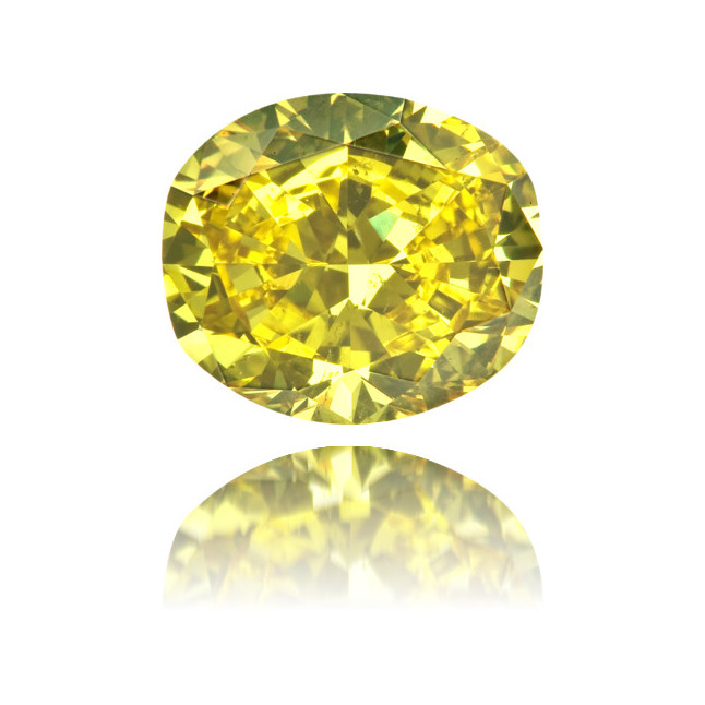 Natural Yellow Diamond Oval/Cushion 2.10 ct Polished
