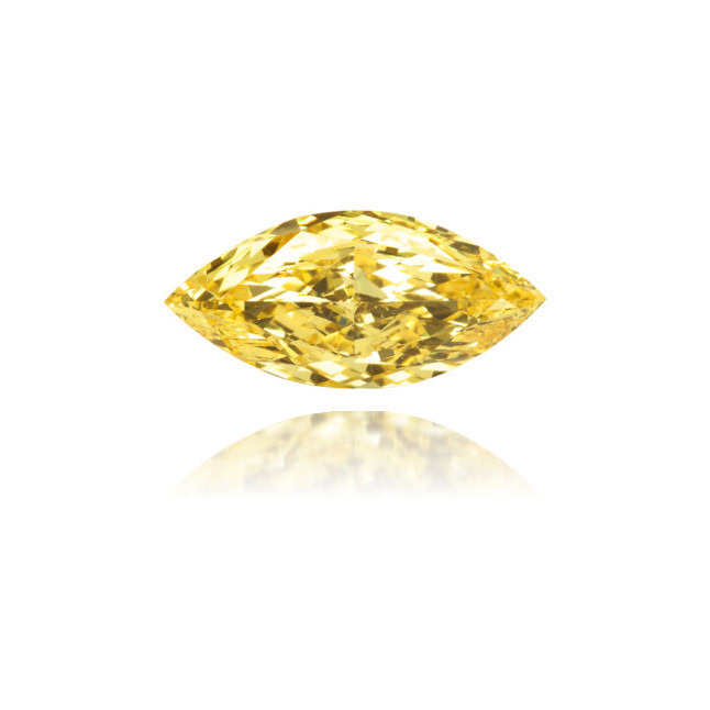 Natural Yellow Diamond Marquise 0.71 ct Polished
