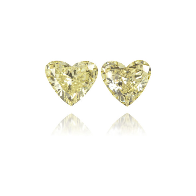 Natural Yellow Diamond Heart Shape 1.79 ct Set