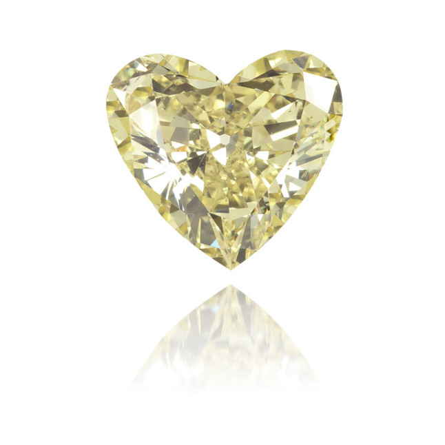 Natural Yellow Diamond Heart Shape 0.91 ct Polished