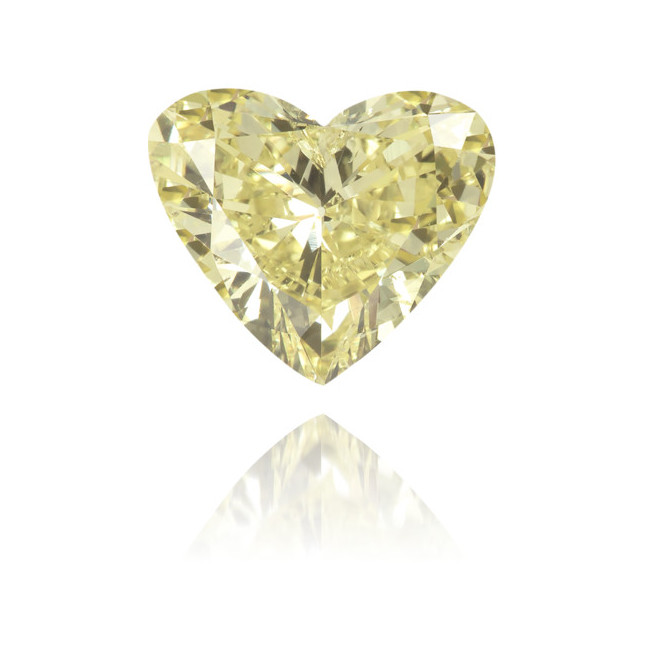 Natural Yellow Diamond Heart Shape 0.88 ct Polished