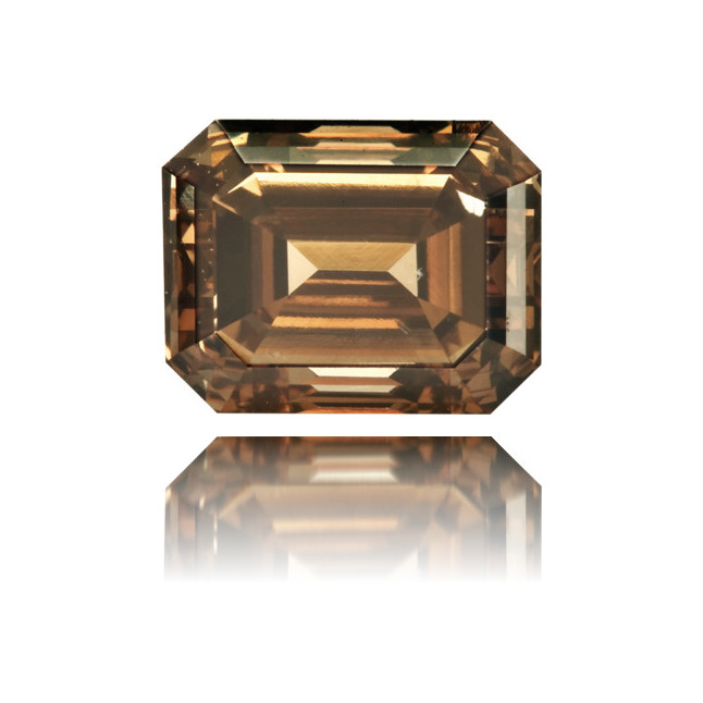 Natural Brown Diamond Rectangle 1.31 ct Polished