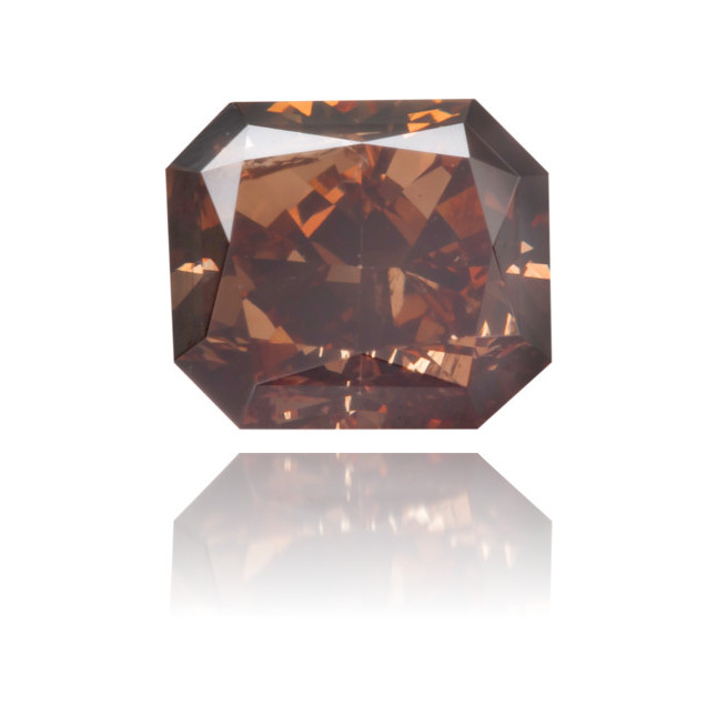 Natural Brown Diamond Rectangle 0.69 ct Polished