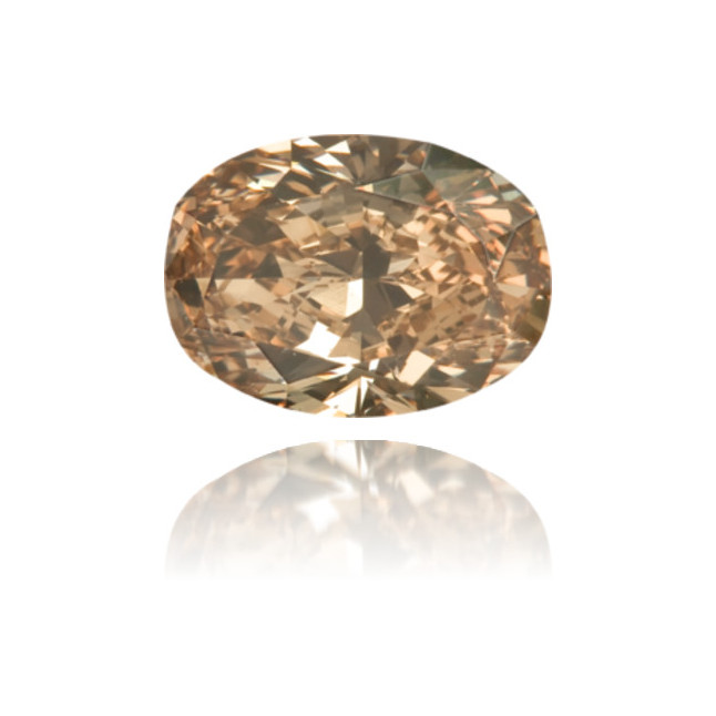 Natural Brown Diamond Oval/Cushion 0.89 ct Polished