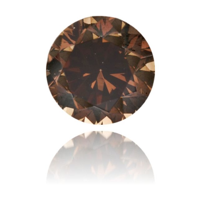 Natural Brown Diamond Round 0.35 ct Polished