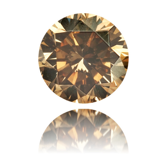 Natural Brown Diamond Round 0.59 ct Polished
