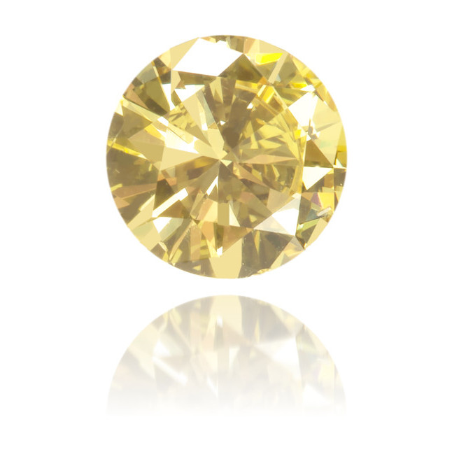 Natural Yellow Diamond Round 0.28 ct Polished