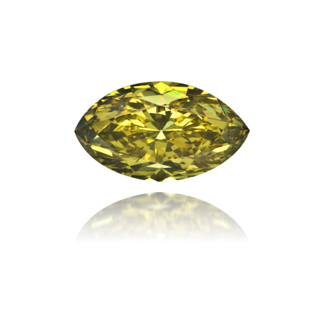 Natural Green Diamond Marquise 0.78 ct Polished