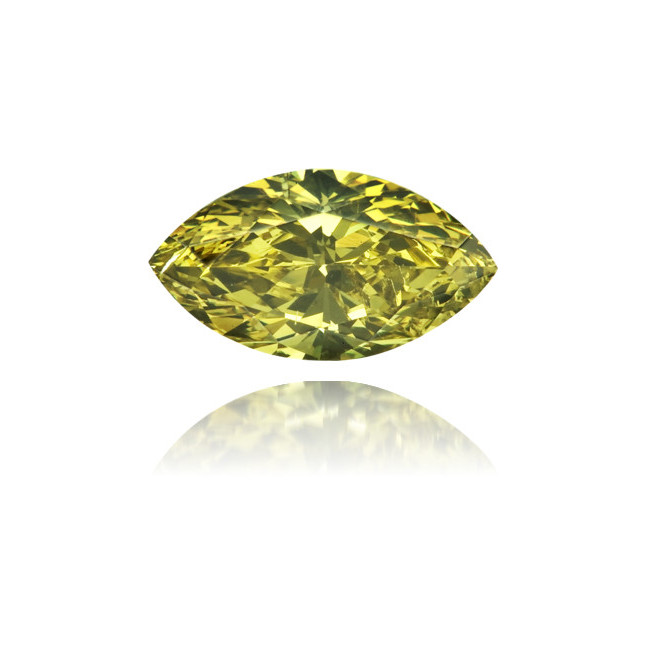 Natural Green Diamond Marquise 0.51 ct Polished