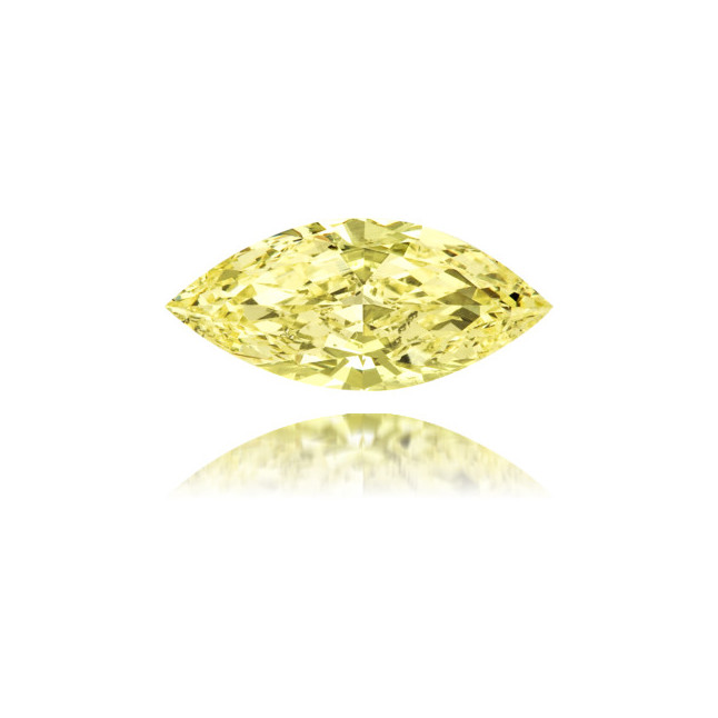 Natural Yellow Diamond Marquise 1.31 ct Polished