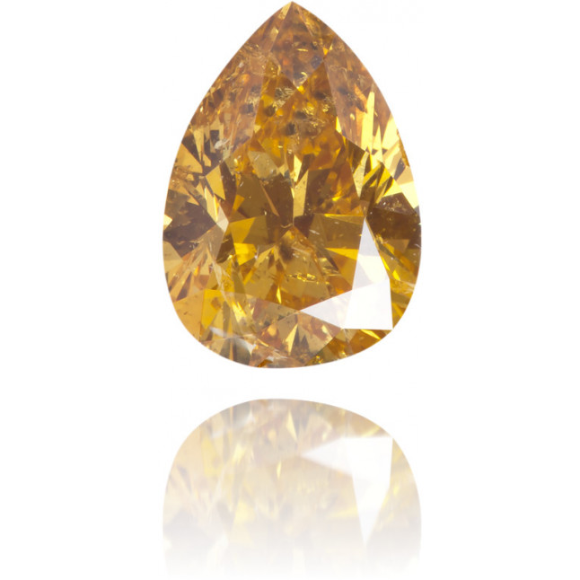 Natural Orange Diamond Pear Shape 1.00 ct Polished