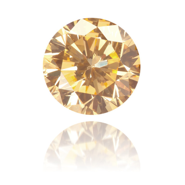Natural Orange Diamond Round 0.61 ct Polished