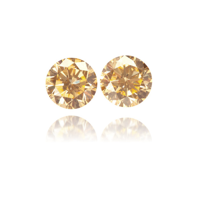 Natural Orange Diamond Round 1.21 ct Set