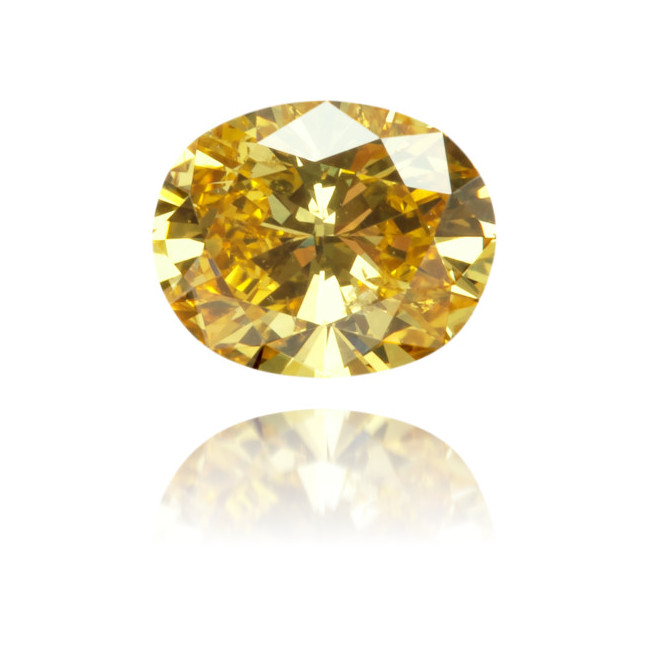 Natural Orange Diamond Oval 0.35 ct Polished