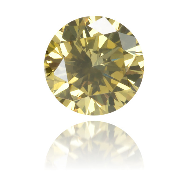 Natural Green Diamond Round 0.16 ct Polished