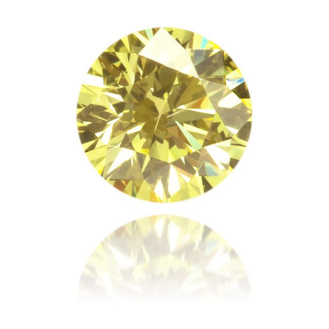 Natural Yellow Diamond Round 0.13 ct Polished