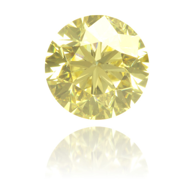 Natural Yellow Diamond Round 1.00 ct Polished
