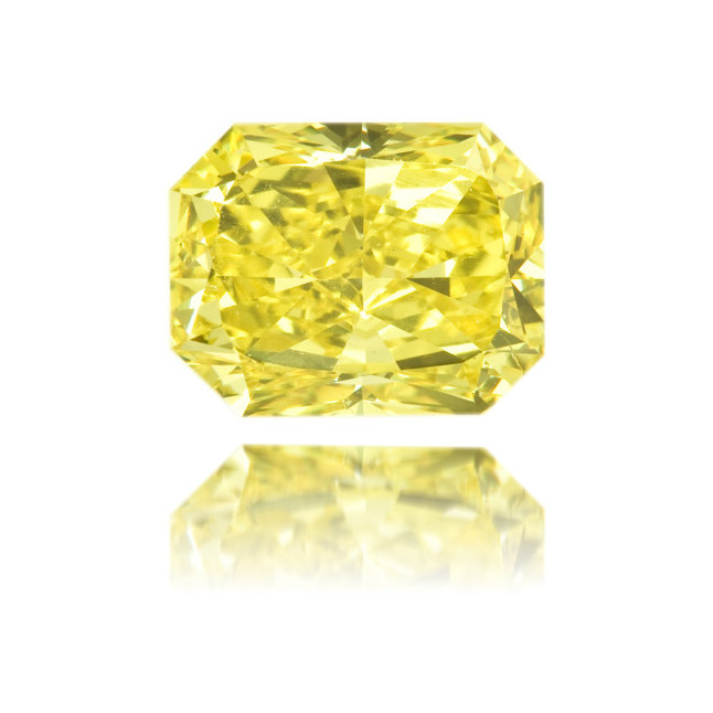 Natural Yellow Diamond Rectangle 2.02 ct Polished