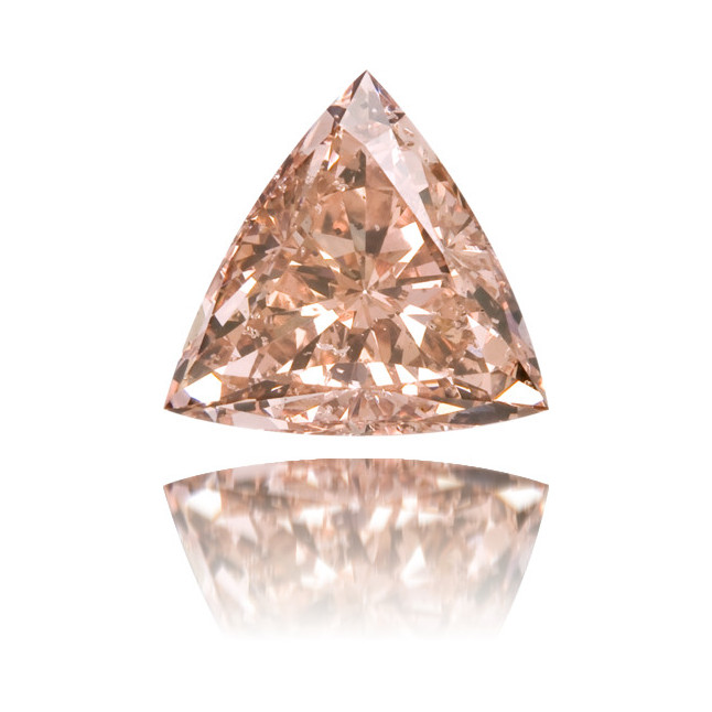 Natural Pink Diamond Triangle 1.12 ct Polished