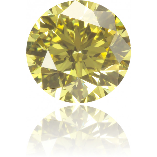 Natural Yellow Diamond Round 0.36 ct Polished