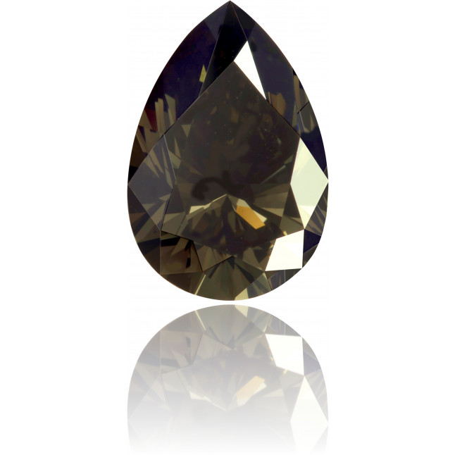 Natural Green Diamond Pear Shape 1.93 ct Polished