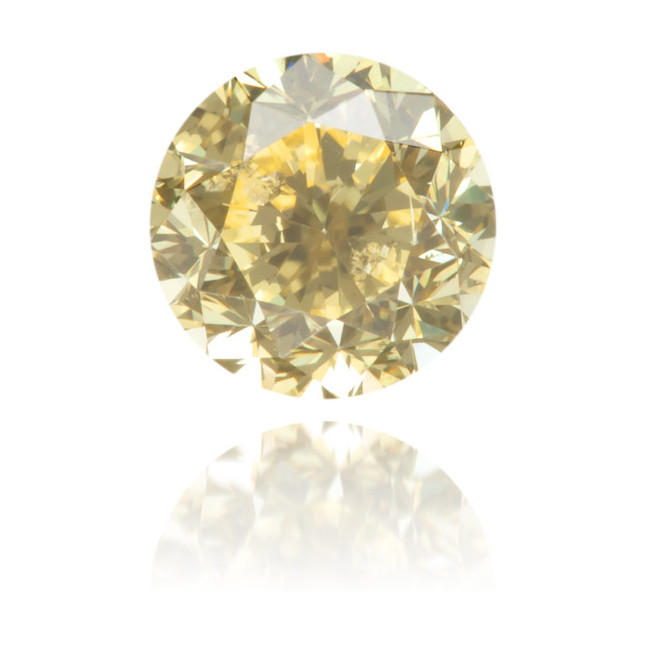 Natural Yellow Diamond Round 0.48 ct Polished