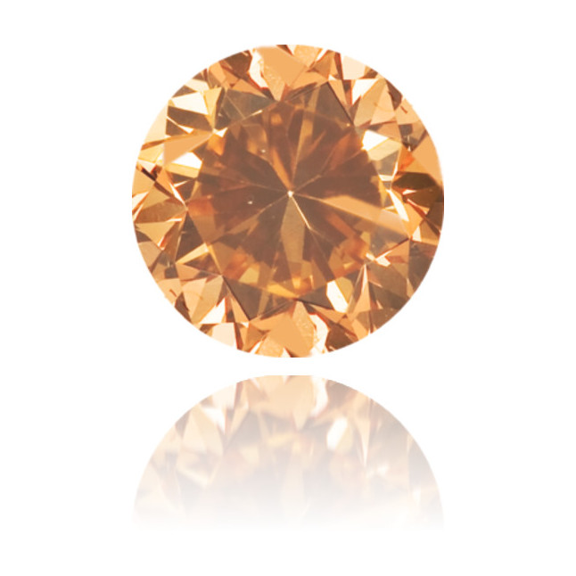 Natural Orange Diamond Round 0.32 ct Polished