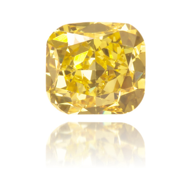Natural Yellow Diamond Cushion 0.24 ct Polished