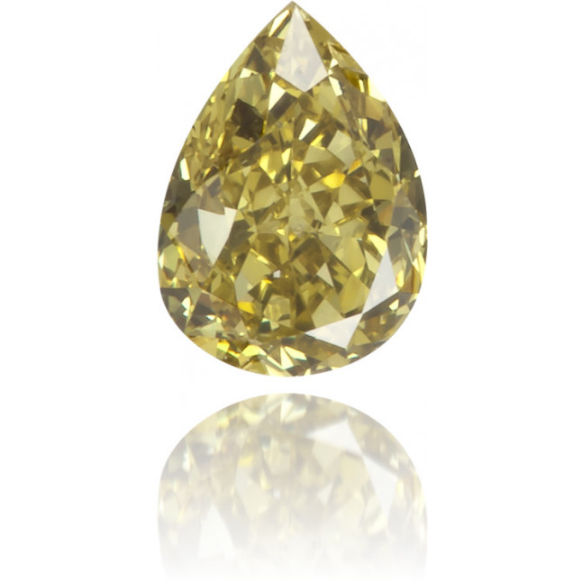 Natural Green Diamond Pear Shape 0.17 ct Polished