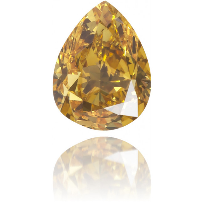Natural Orange Diamond Pear Shape 0.22 ct Polished