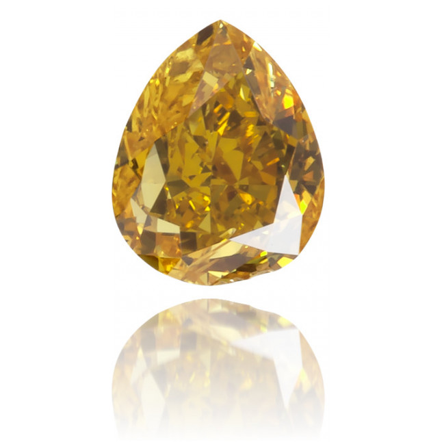 Natural Orange Diamond Pear Shape 0.21 ct Polished