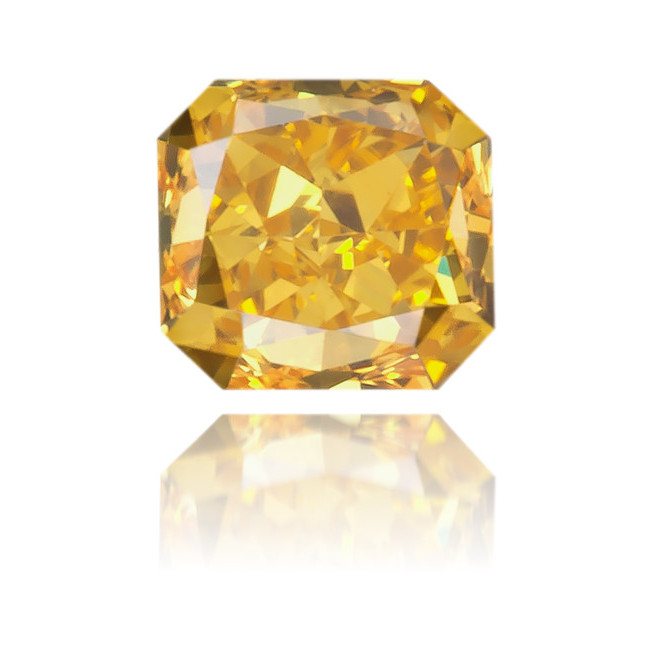 Natural Orange Diamond Rectangle 0.17 ct Polished